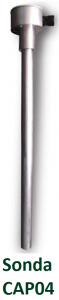 Detail kapacitní sondy CAP04 pro sledování stavu paliva v nádrži.