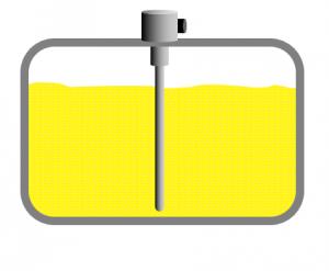 Poloha umístění kapacitní sondy CAP041 v palivové nádrži.