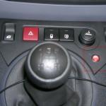Přepínač služební a soukromé jízdy v osobním automobilu.