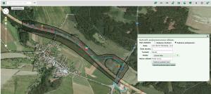 Sledování pohybu stroje – záznam výjezdu ze sledované lokality.